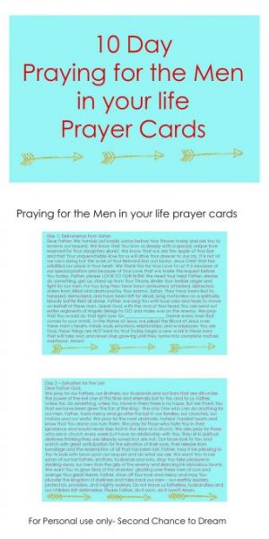 Praying for the Men Printable Prayer Card