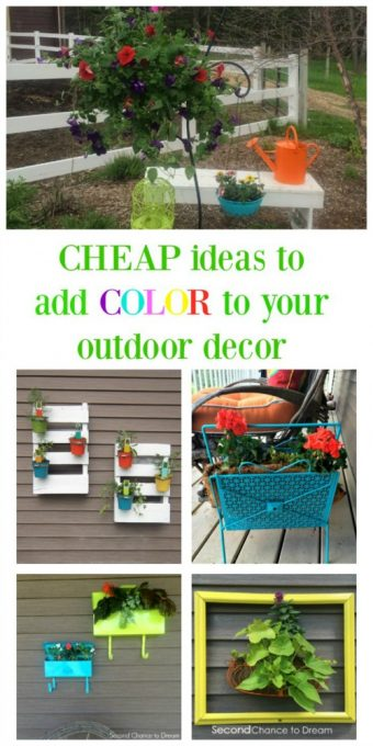 Second Chance to Dream: Cheap ideas to color to your outdoor decor