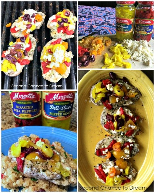 This summer grilling recipe is full of Mediterranean flavors. It's also a healthy choice. #Mezzetta Summer Grilling #BoldBrightSummer