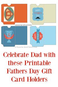 FREE Printable Father's Day Gift Card Holders