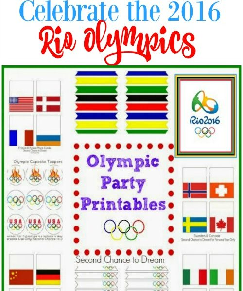 Second Chance to Dream: 2016 Rio Olympic Party Printables #olympics #Rio