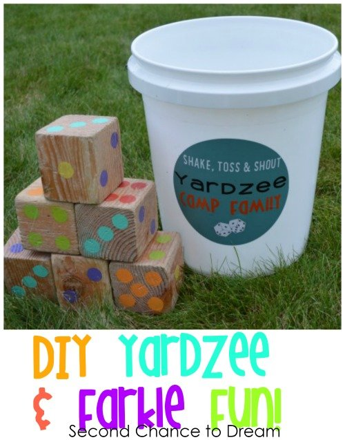 Second Chance to Dream: DIY Yardzee & Farkle Fun! #family #outdoorgames