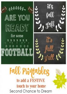 FREE Fall Printables to add a festive touch to your home…