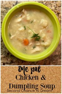 One Pot Chicken & Dumpling Soup