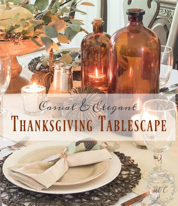 Casual And Elegant Thanksgiving Tablescape || Worthing Court