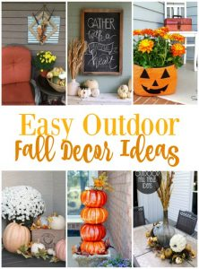Easy Outdoor Fall Decor Ideas