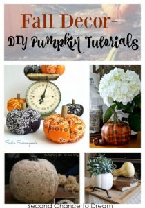 Fall Decor- DIY Pumpkin Tutorials