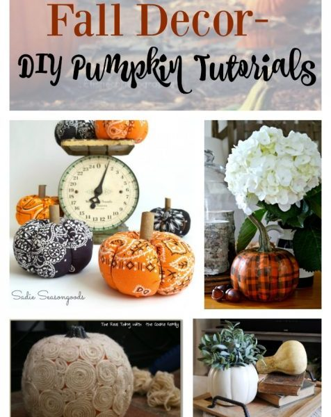 Second Chance to Dream: Fall Decor- DIY Pumpkin Tutorials