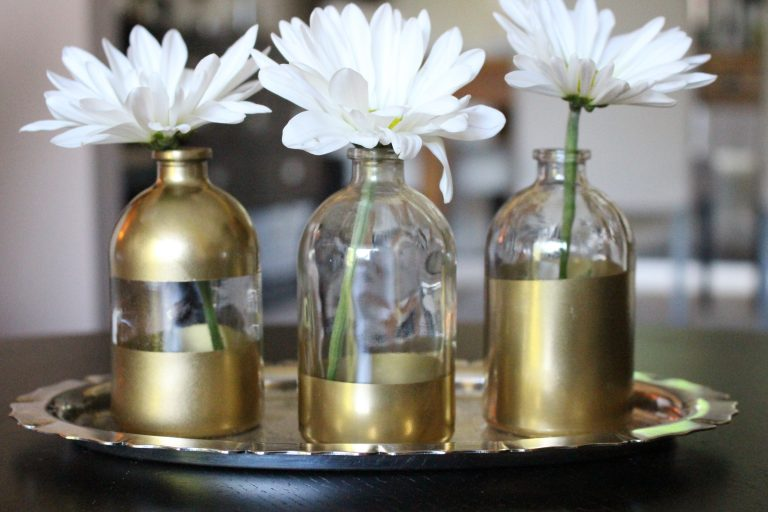 DIY Gold Dipped Vase by www.mylifefromhome.com