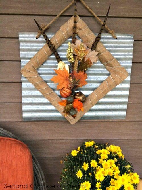 Second Chance to Dream: Unique Fall Wreath #DIYFallDecor #Falldecor