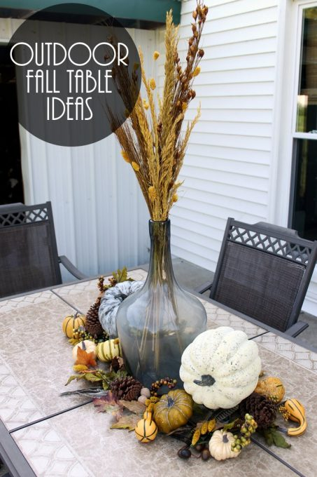Outdoor fall table ideas that you can add to your home!