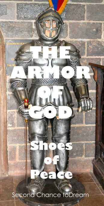 Second Chance to Dream: The Armor of God- Shoes of Peace Are you lacking peace in your life?  #Bible Study