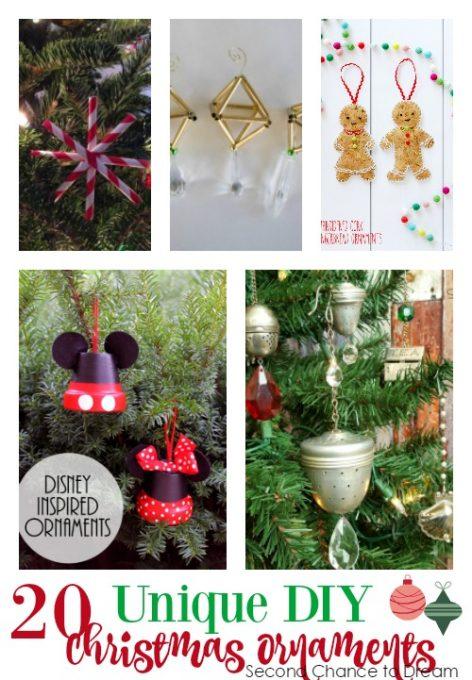 Second Chance to Dream; 20 Unique DIY Christmas Ornaments