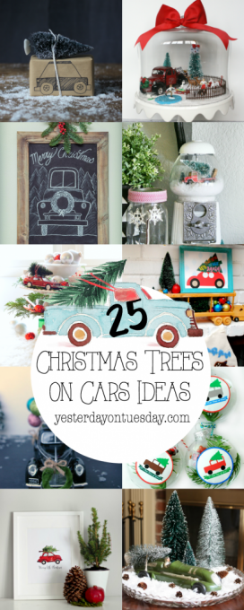 Christmas Trees on Cars Ideas: The ultimate collection of Christmas Trees on Cars ideas, including decor, gift wrap, pillows, art, ornaments, tags and more. One to pin!