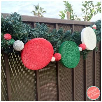 Make a DIY outdoor holiday garland | DazzleWhileFrazzled.com