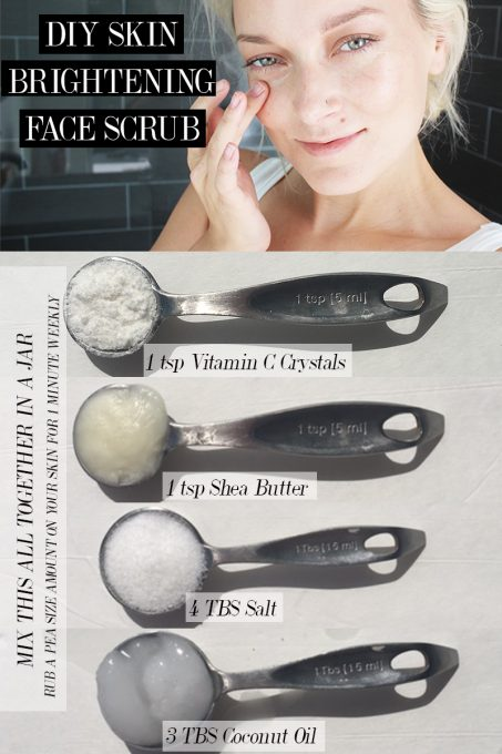 DIY Skin Brightening Face Scrub