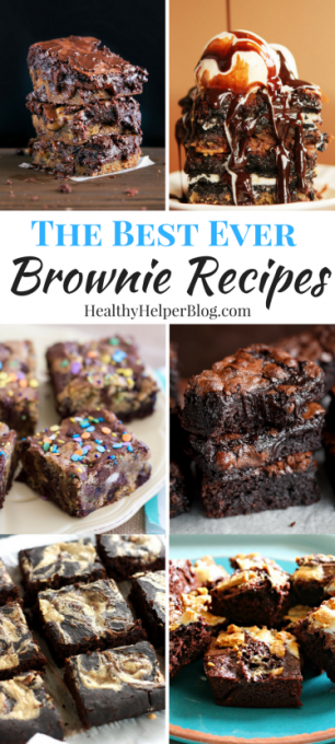The BEST EVER Brownie Recipes   Healthy Helper @Healthy_Helper A roundup of the best of the best brownie recipes from your favorite food bloggers! Some healthy, some indulgent, ALL full of ooey-gooey chocolate goodness.