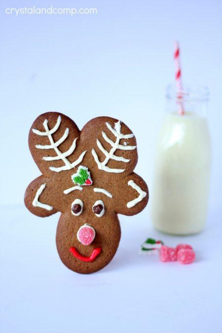 reindeer Christmas cookies for Santa