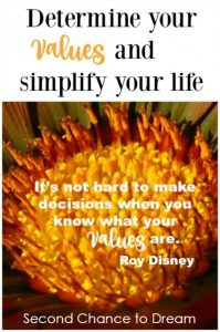 Determine your values and simplify your life