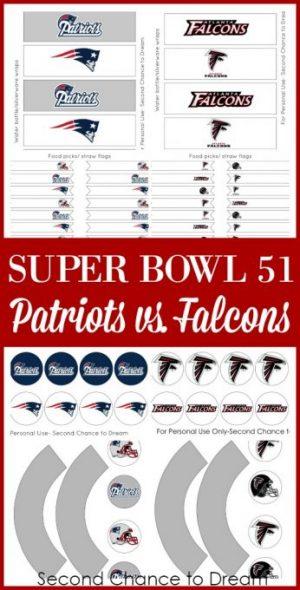 FREE Super Bowl 51 Party Printables
