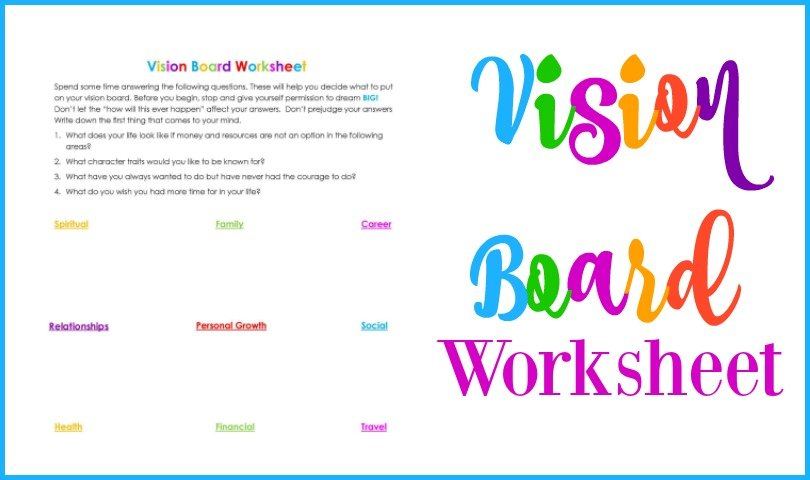 Second Chance to Dream: Vision Board Worksheet