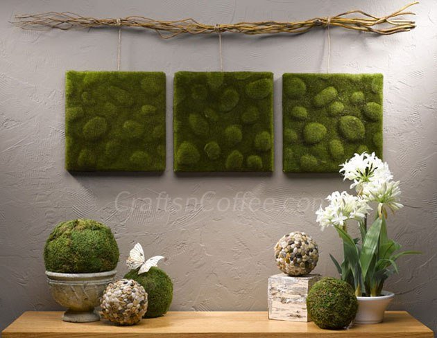 DIY moss wall art