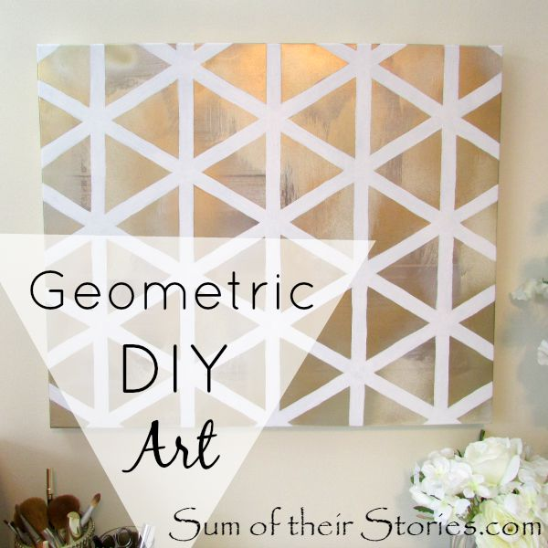 easy DIY art with canvas, paint and masking tape