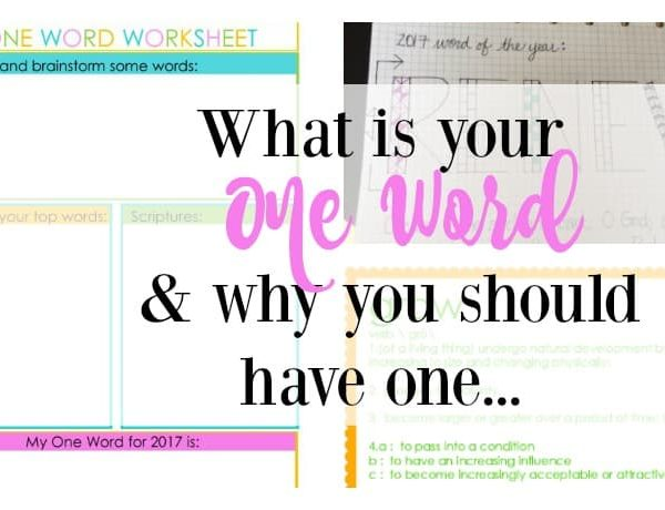 Second Chance to Dream: What is your One Word & Why your should have one