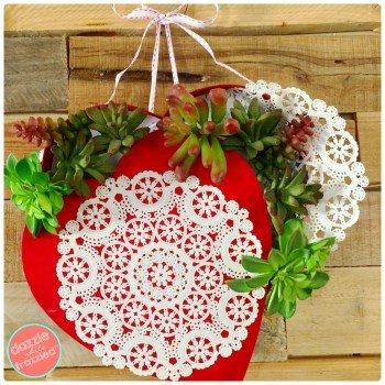 DIY Succulent Valentine's Day Wreath | DazzleWhileFrazzled.com