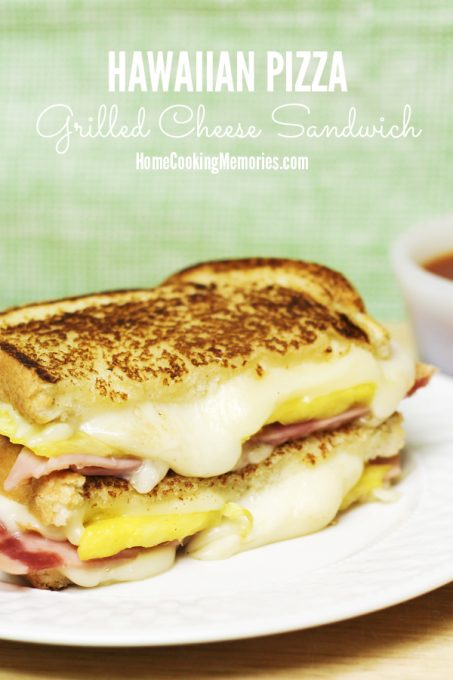 This Hawaiian Pizza Grilled Cheese Sandwich recipe is just like a Hawaiian Pizza with ham and pineapple, but made into an easy meal for lunch or dinner.