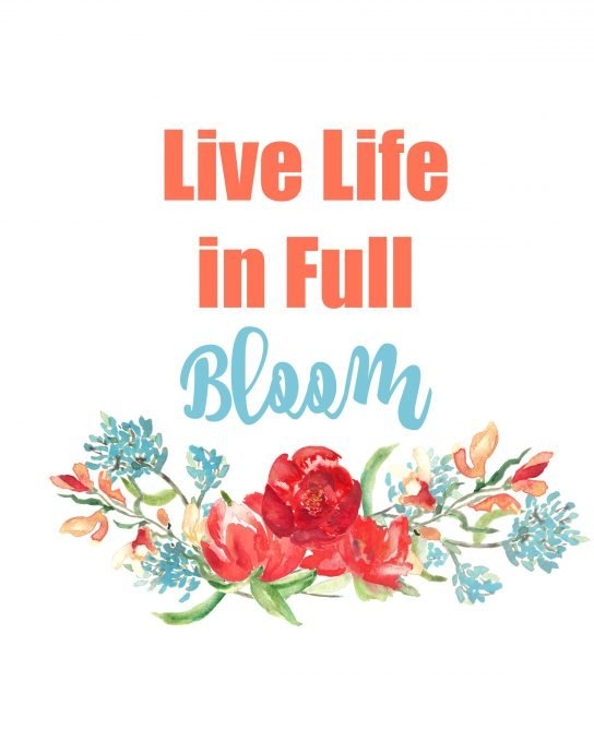 Second Chance to Dream; Live Life in Full Bloom Free Spring Printable is perfect for adding some color to your home for almost next to nothing.