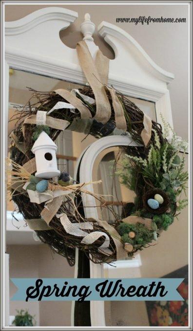 "Spring ""Birds Nest"" Wreath by www.mylifefromhome.com"