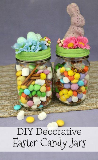 DIY Decorative Easter Candy Jars - MommaDJane: