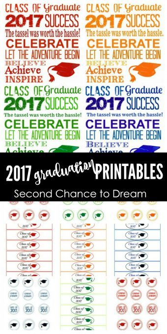 Second Chance to Dream: 2017 Graduation Party Printables #graduation #classof2017 #2017