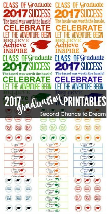 Second Chance to Dream: 2017 Graduation Printables #graduation #2017