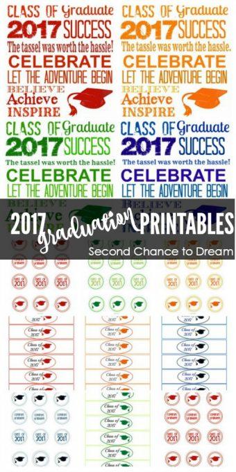 Second Chance to Dream: 2017 Graduation Printables #graduation #2017
