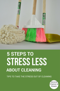 5 tips to stress less about cleaning
