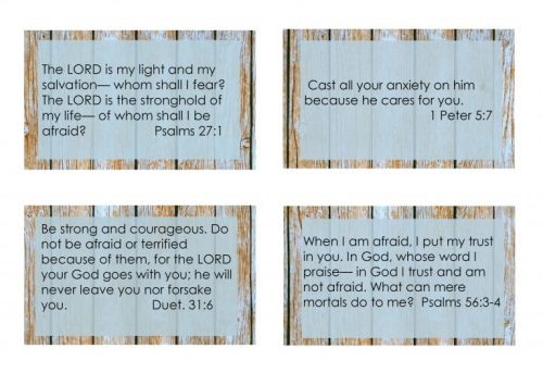 Second Chance to Dream: Printable Overcoming Fear Scripture Cards You don't have to life with fear. These cards are perfect to put in your purse or car for those times fear creeps up on you. #FEAR #Biblestudy #lifelesson