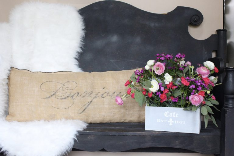 Toolbox Crate Flower Arrangement- spring flower- arranging flowers- how to arrange flowers- unusual flower vessels- arranging flowers- spring decor- flower boxes