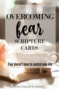 Overcoming Fear Scripture Cards