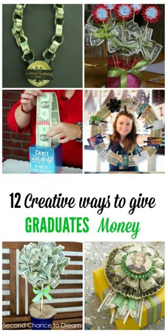 Second Chance to Dream: 12 Creative ways to give GRADUATES money #graduation #graduationgiftideas