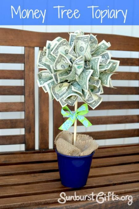 Easy Peasy Money Tree Topiary: