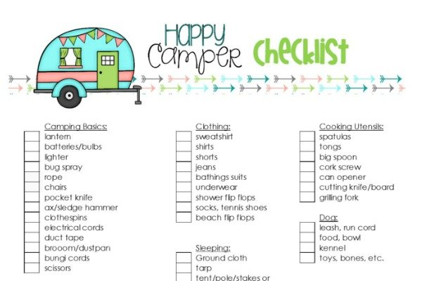 Happy Camper Checklist