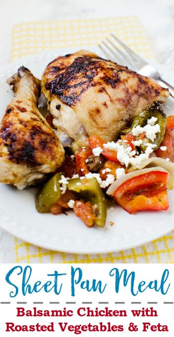 Sheet Pan Meal: Balsamic Pan Chicken! A quick and easy dinner the whole family will love!