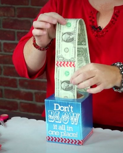Tissue Cash | 25+ Creative Ways to Give Money