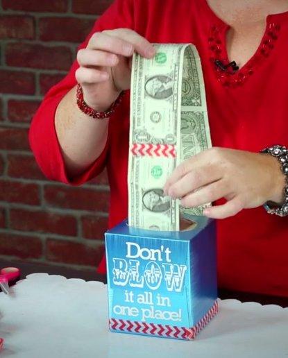 Tissue Cash | 25+ Creative Ways to Give Money