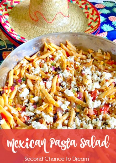 Second Chance to Dream: Mexican Pasta Salad #salads #recipe The perfect summer picnic salad