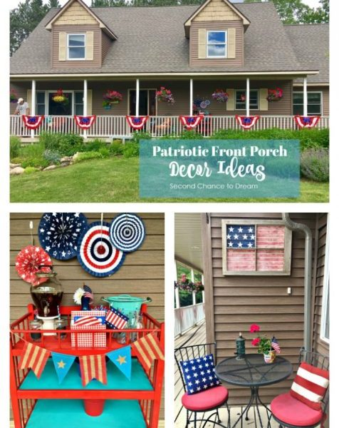 Second Chance to Dream: Patriotic Front Porch Decor Ideas #patriotic #DIYDecor #frontporchdecor