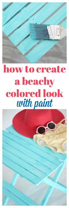 How to Get a Beachy Look with Paint | DIY Beachy Decor | Furniture Glaze Recipe | Furniture Makeover Ideas | Furniture Glaze Technique