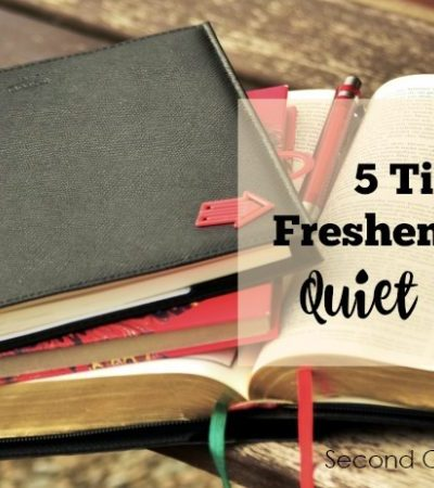 5 Tips to Freshen up your Quiet Times
